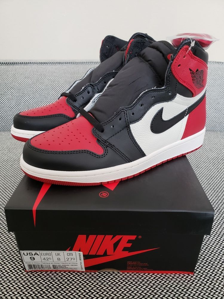 edf90f66 Nike Jordan 1 Retro High Bred Toe 555068 610 Brand New 100% Authentic Sz 9  #fashion #clothing #shoes #accessories #mensshoes #athleticshoes (ebay link)