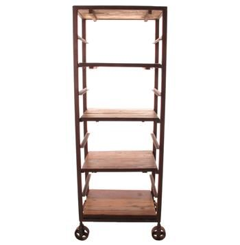 Buttermere Reclaimed Wood Tall Baker S Rack Display Bookcase