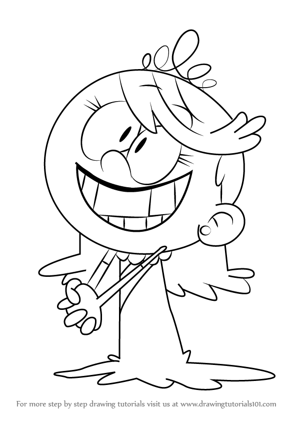 How to Draw Lola Loud from The Loud House step by step