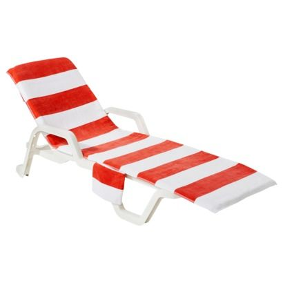 AC Lounge Chair Beach Towel   Coral   Target Wonu0027t Slip Off And Has A  Kindle/sunscreen Pocket