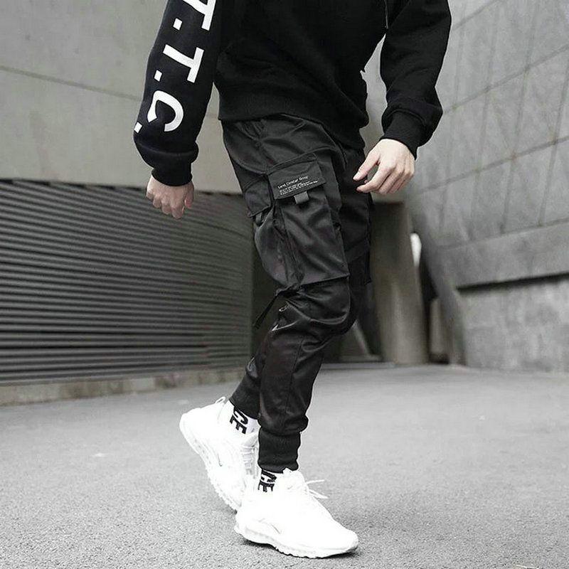 2020 Hip Hop Nino Multi Pocket Elastico Cintura Harem Pantalones Hombres Streetwear Punk Casual Pantalones Joggers Hombres Tobillo Longitud Hombres Pantalones Pantalones Joggers Hombre Pantalones Harem De Hombres Pantalones Hasta Los Tobillos
