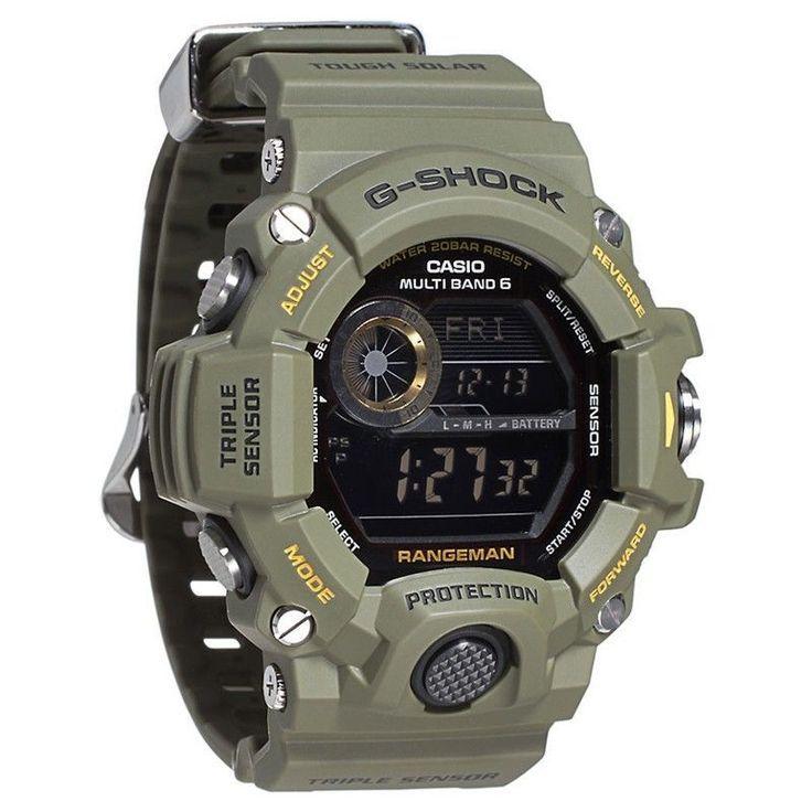 7ea5c08ef80 Casio G-Shock Digital Dial Green Resin Strap Mens Watch GW9400-3CR ...