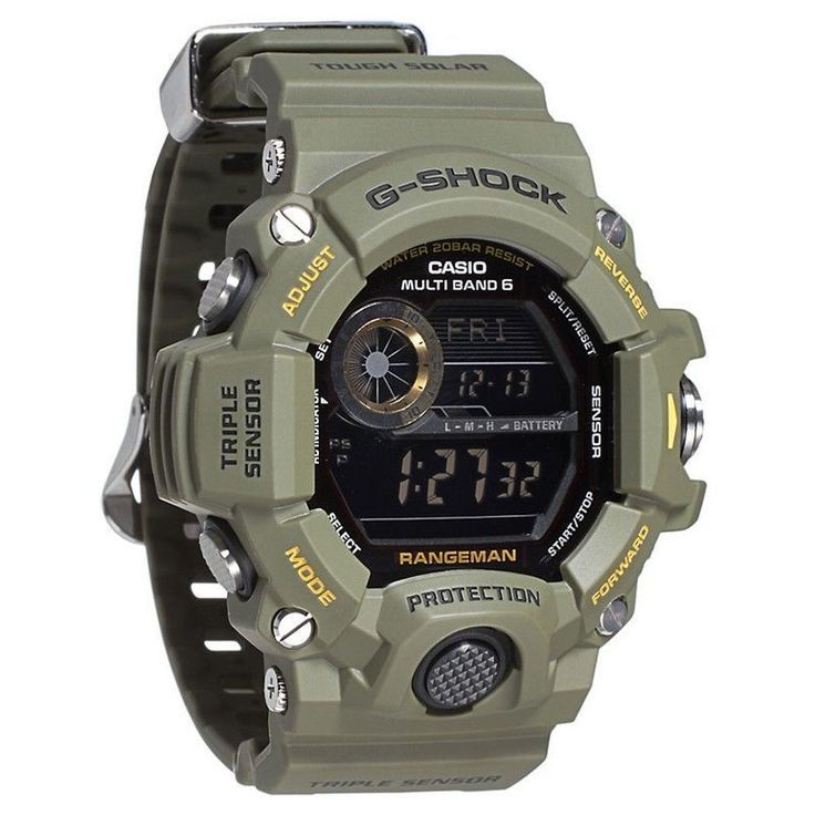 a4e9ce4671930 ... for Men BLACK Casio G-Shock Digital Dial Green Resin Strap Mens Watch  GW9400-3CR ...