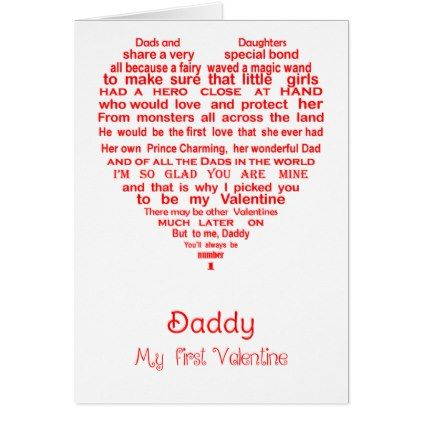 Daddy Valentine\'s Card - valentines day gifts love couple diy ...