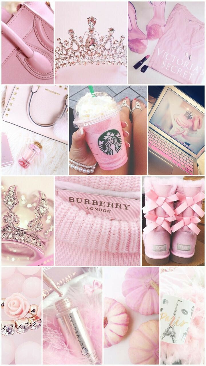 PINK Lovely Cute Girly Collage Iphone Wallpaper 2020