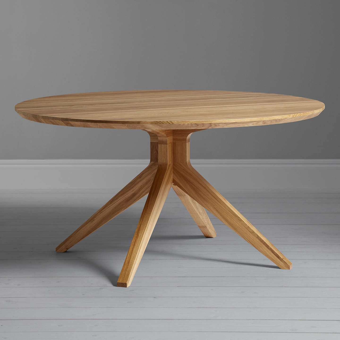 Matthew hilton for case cross seater round dining table oak