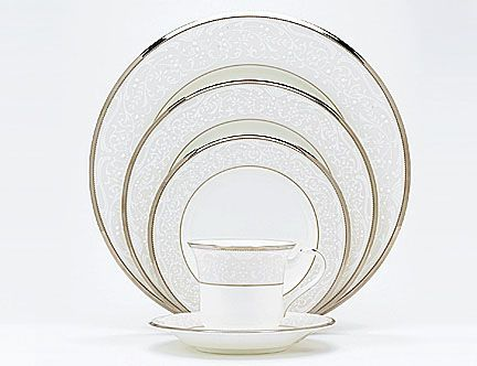 5 more place settings to complete our wedding china.  Noritake Silver Palace.