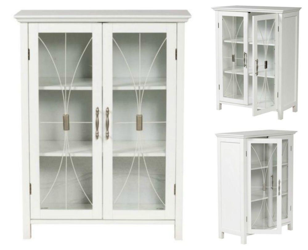 Bathroom Storage Cabinet Floor Standing Cupboard Pantry Kitchen Bath ...