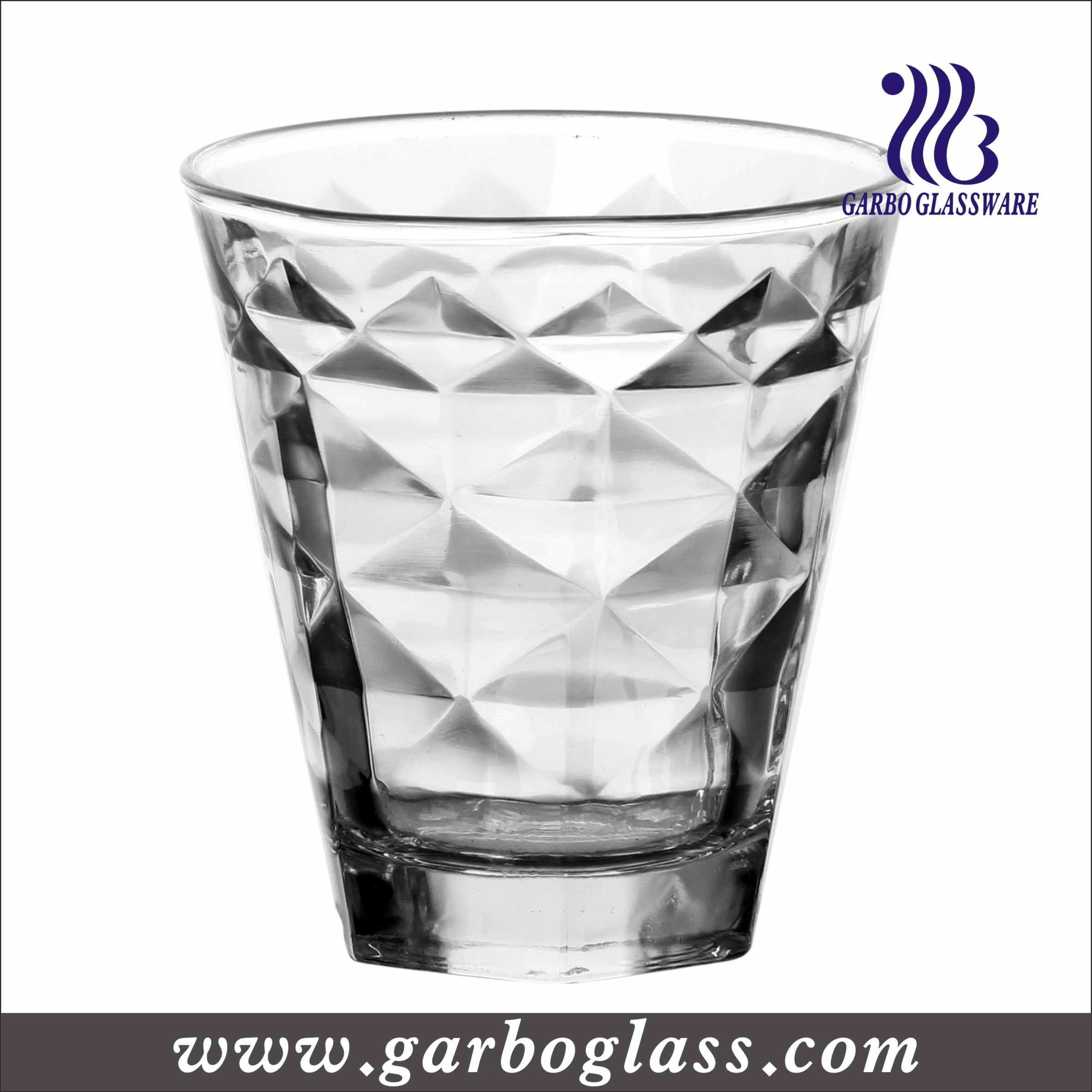 High Quality And Transparent Pressed Machine Made Glass Tumbler, For