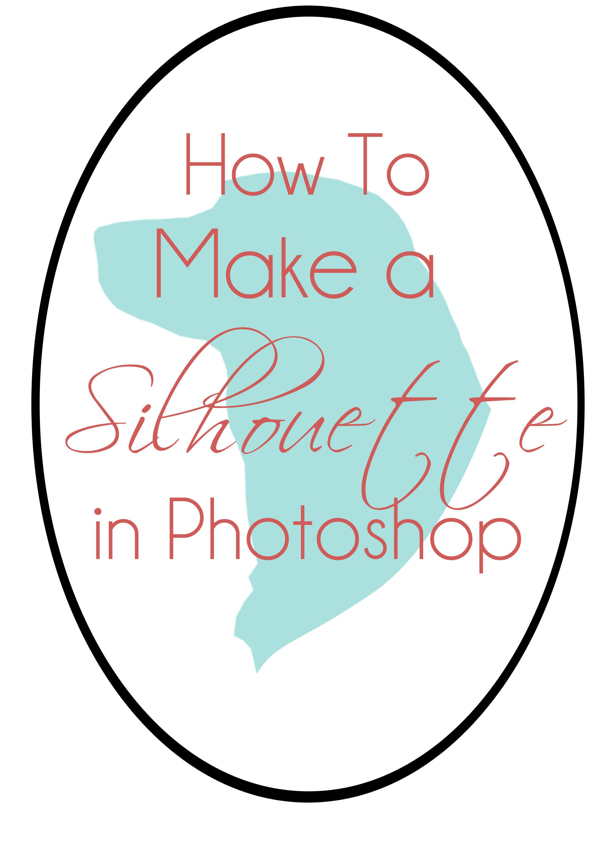 How to make a silhouette in photoshop graphic design pinterest how to make a silhouette in photoshop baditri Images