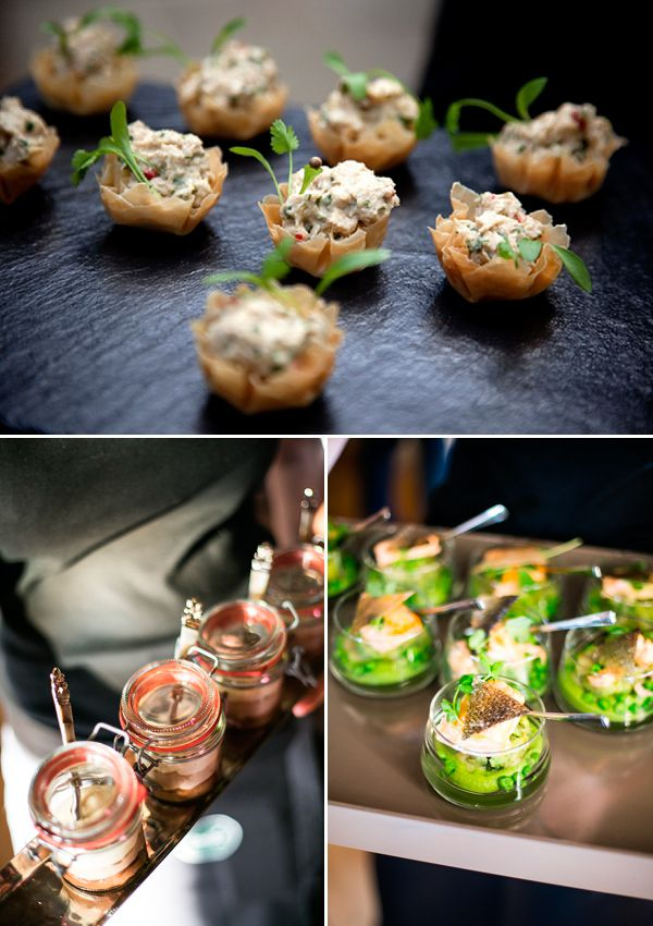 Creative canapes wedding catering ideas reinvention of for Wedding canape ideas