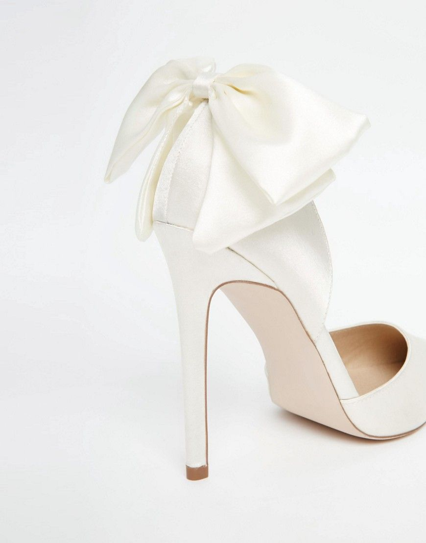 Asos Phoenix Bridal Pointed Bow Detail High Heels At Asos Com Bride Shoes Bridal Shoes Wedding Shoes