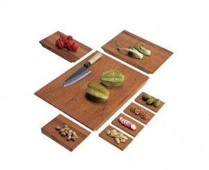 """Il set di taglieri da cucina in legno tek """"Cut in Half""""... ideati ..."""