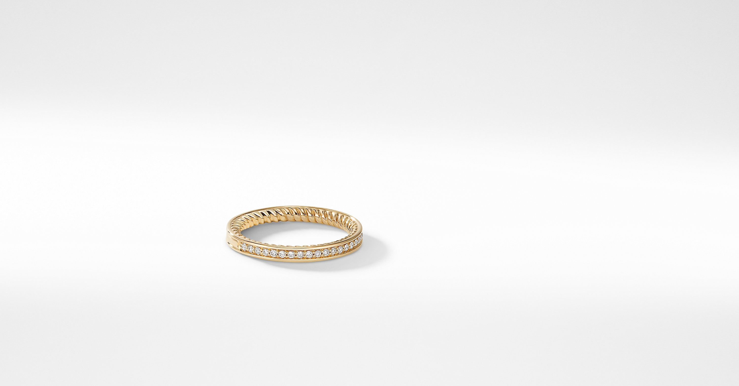 DY Eden Eternity Wedding Band with Diamonds in 18K Gold, 2