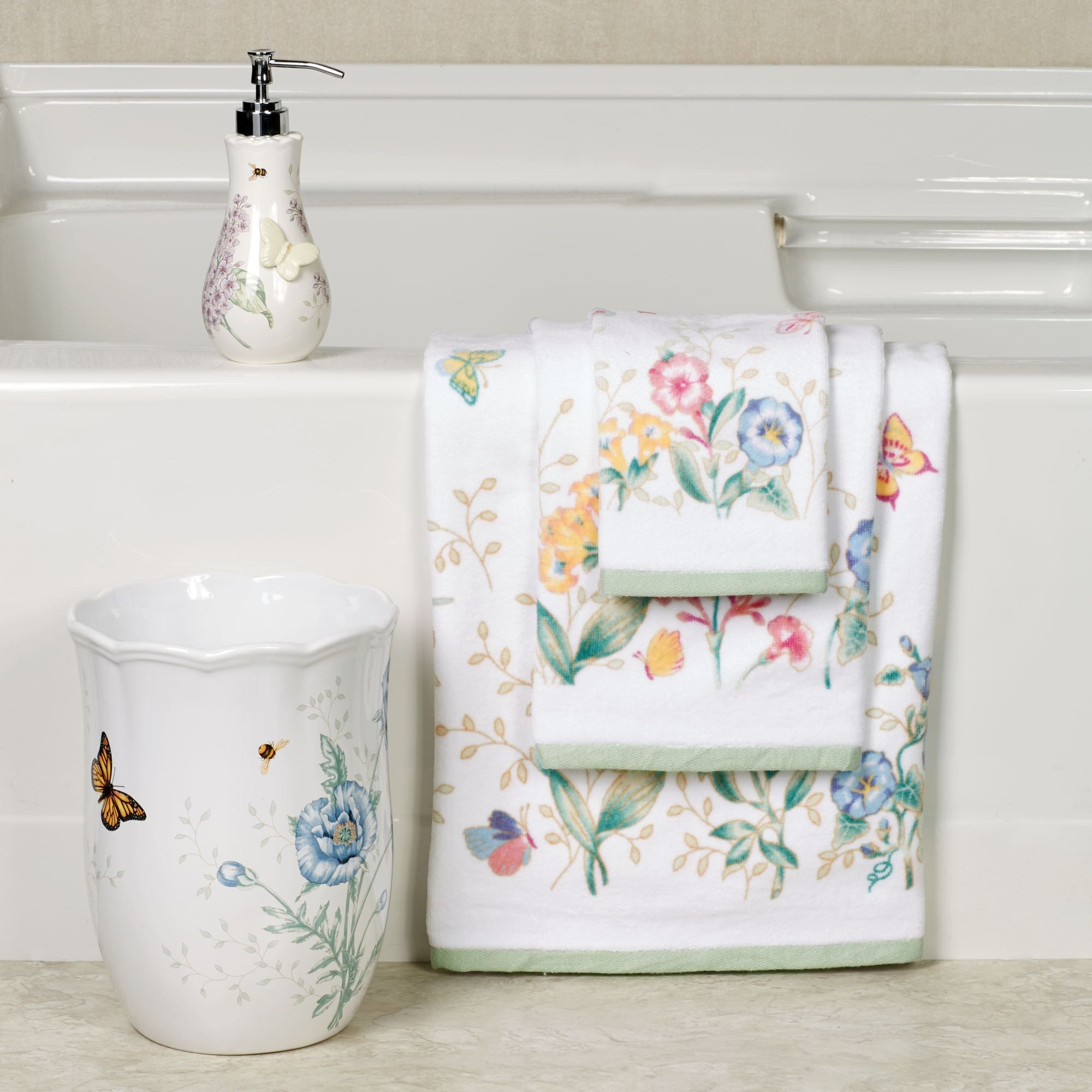 Lenox Butterfly Meadow Bath Towel Set Lenox Butterfly Meadow