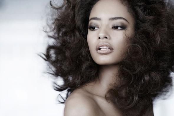 Makeup artist Vincent Oquendo turns up the heat on model Malaika Firth.