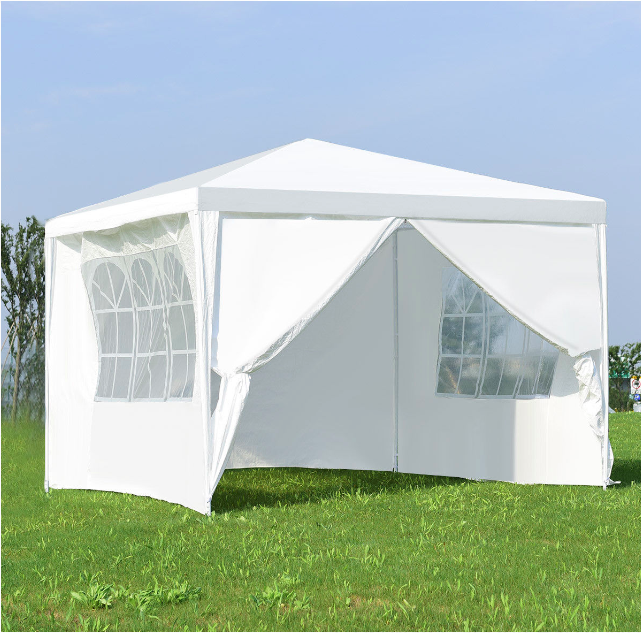 10 X 10 White Event Tent With Windows Walls Detachable Canopy Tent Gazebo Canopy Event Tent