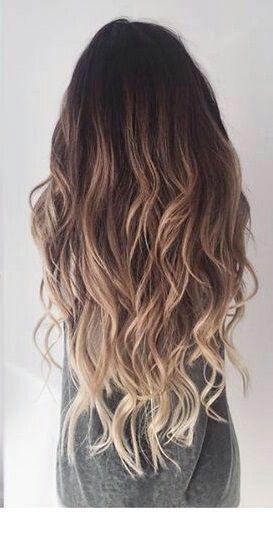 Dunkle Wurzeln und blonder Balayage #blondeombre