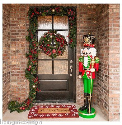 giant life size pair of 6 resin nutcracker christmas holiday toy soldiers - Large Life Size Toy Soldier Christmas Outdoor Decorations