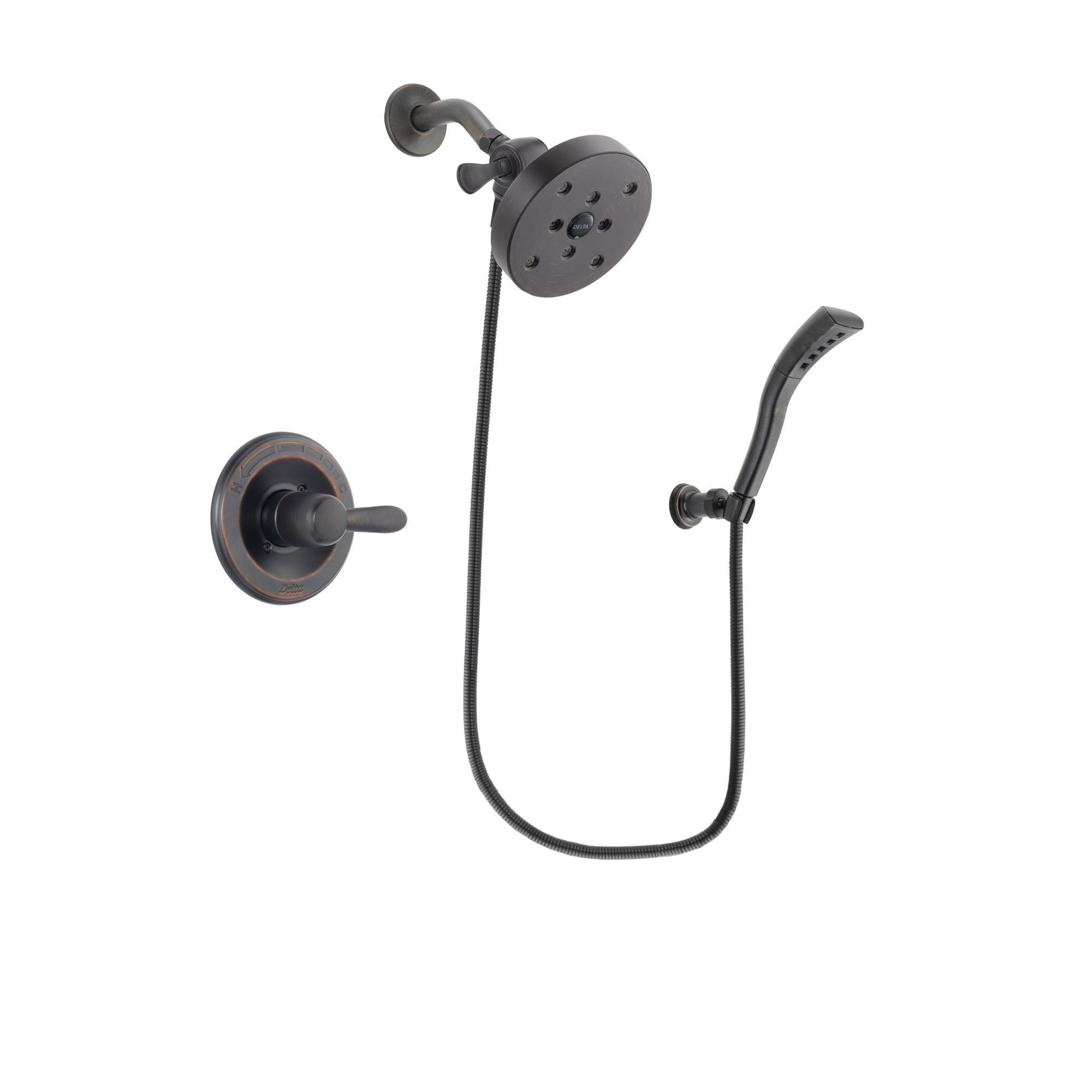 Merveilleux Delta Lahara Venetian Bronze Finish Shower Faucet System Package With 5 1/2  Inch