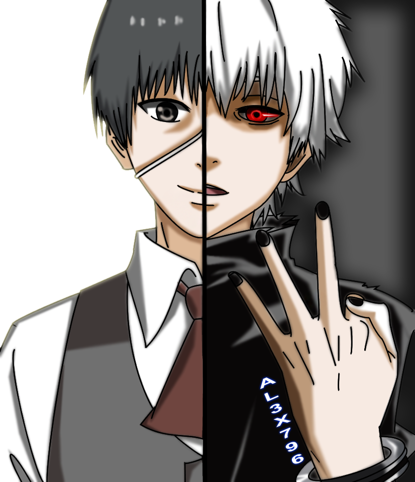 Tokyo Ghoul at this cool and cute two sides of him yup and