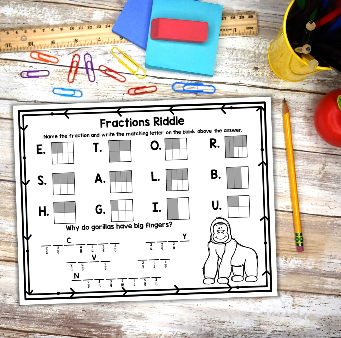20 Worksheets Fraction Of A Number Simbologia
