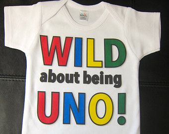 UNO Birthday Shirt WILD About Being First Outfit Rainbow Party