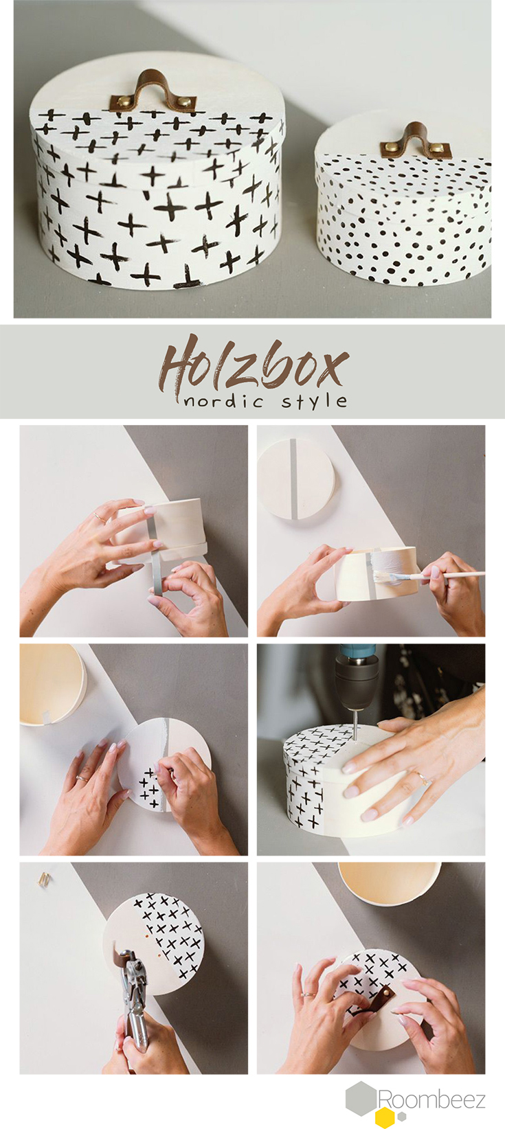 diy holzbox im nordic style selbst machen diy do it yourself pinterest diy deko selber. Black Bedroom Furniture Sets. Home Design Ideas