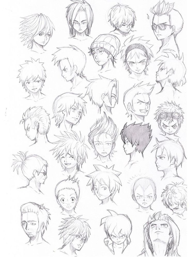 cool anime guy hairstyles Google Search... … Anime boy