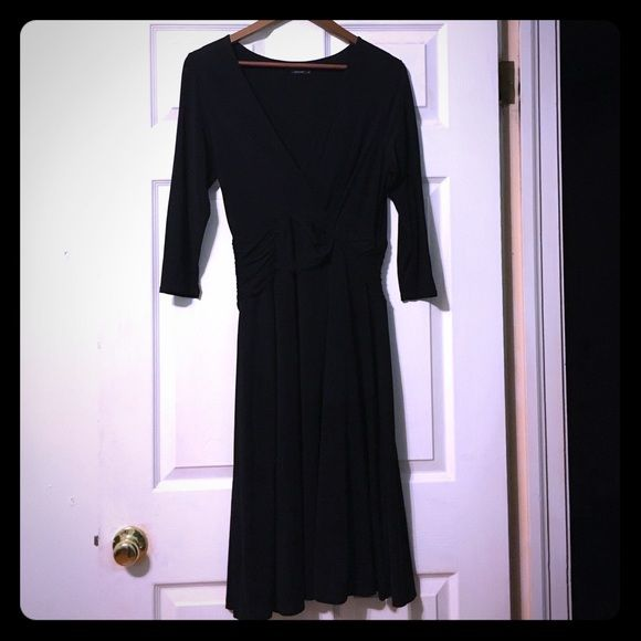 BCBG Maxazria little black dress. Medium Beautiful dress. Light weight and flowing. Bought this from a friend. No stains, tears of any kind. BCBGMaxAzria Dresses Midi