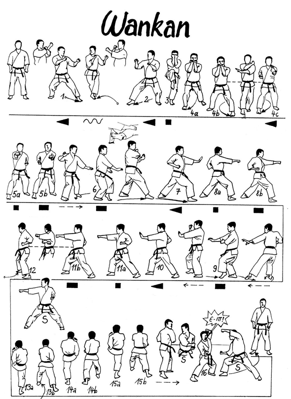 karate diagrams