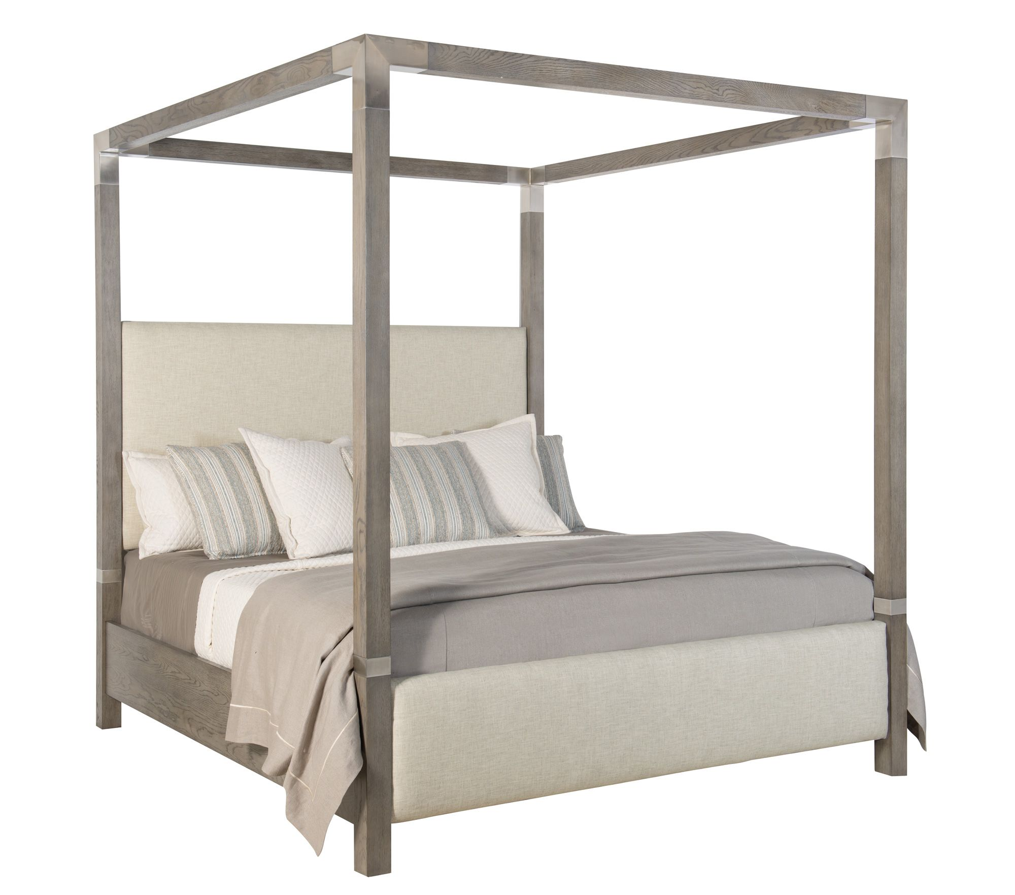 Upholstered Canopy Bed Bernhardt Coastal Bedrooms Coastal