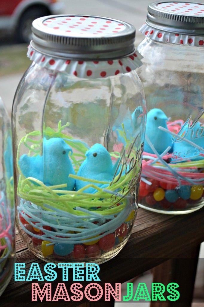 Mason Jars Decorated Last Minute Easter Craft Easter Mason Jars  Edible Grass Easter
