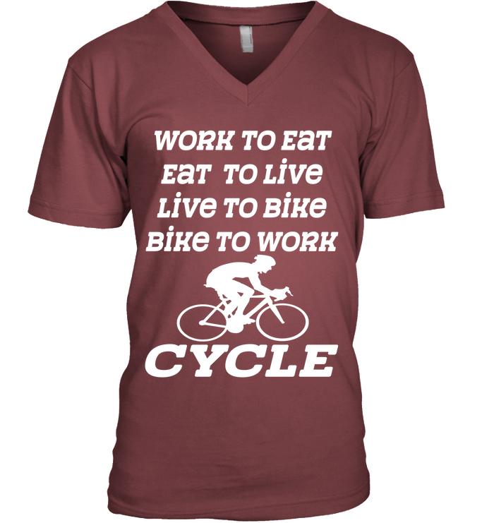 Work To Eat Eat To Live Live To Bike Bike To Work Luplun Womens