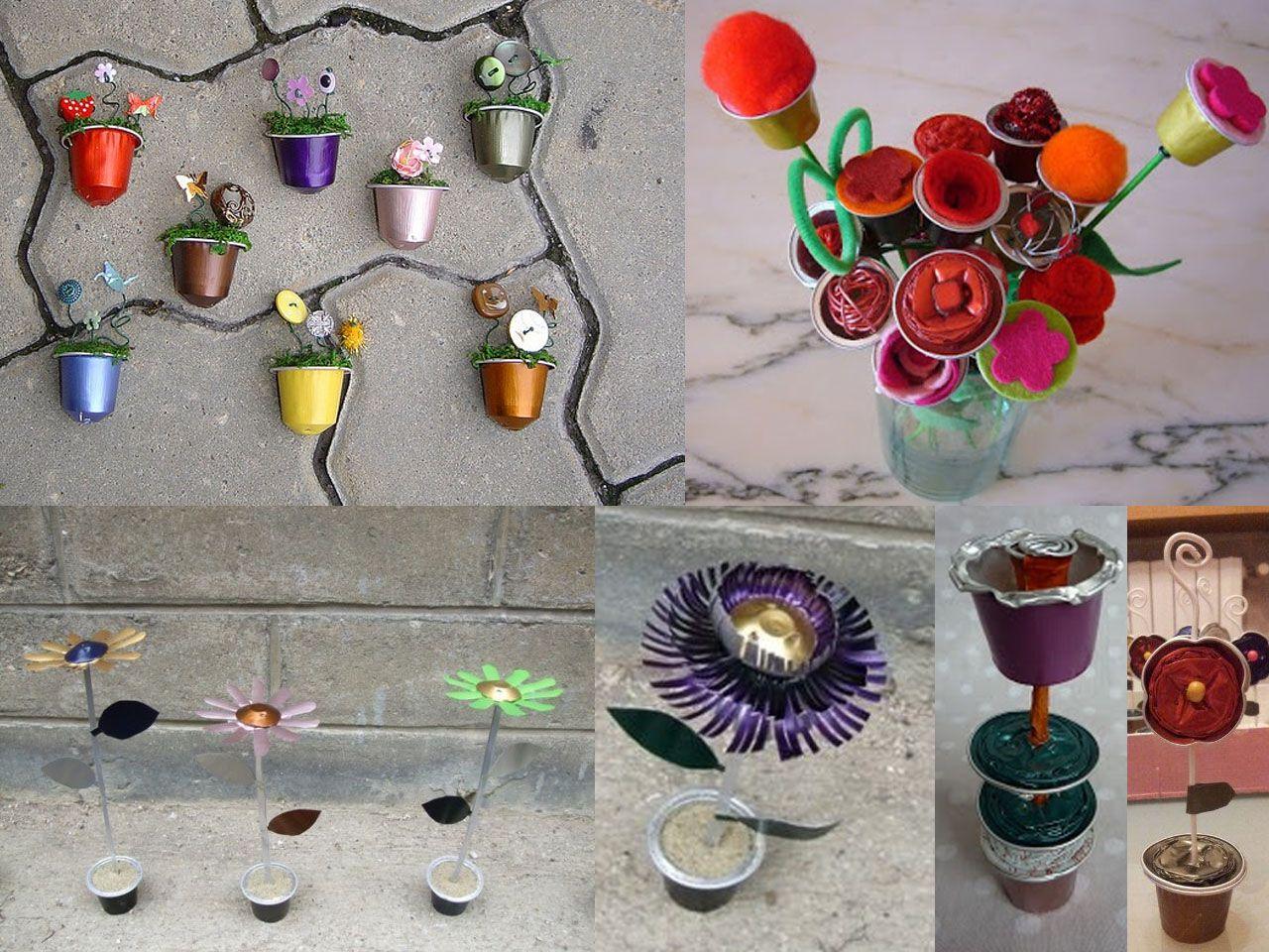Flores Con Cápsulas De Café Nespresso Nespresso Manualidades Con Capsulas Nespreso Cafe