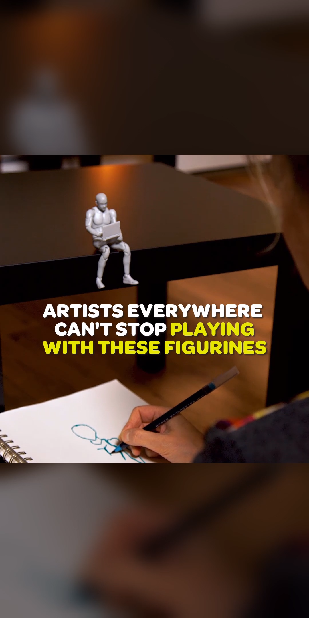 Love to draw? You're going to LOVE these new pose-able sketch figurines.