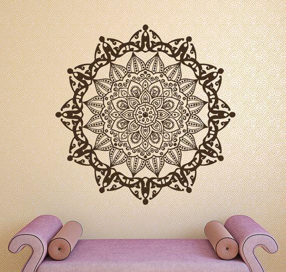 Mandala Wall Decals Boho Vinyl Stickers Indian Art Mural Home Design