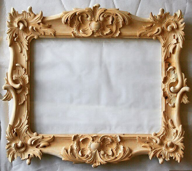 Hand Carved Wood Ornate Floral And Birds Baroque Style Picture Mirror Frame Attractive Designs; Picture Frames