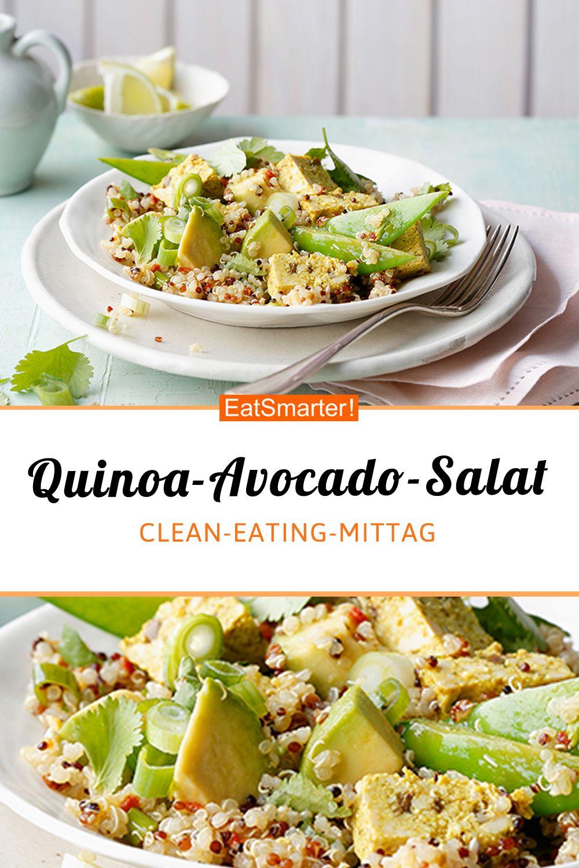 Photo of Quinoa and avocado salad with curry and mango tofu