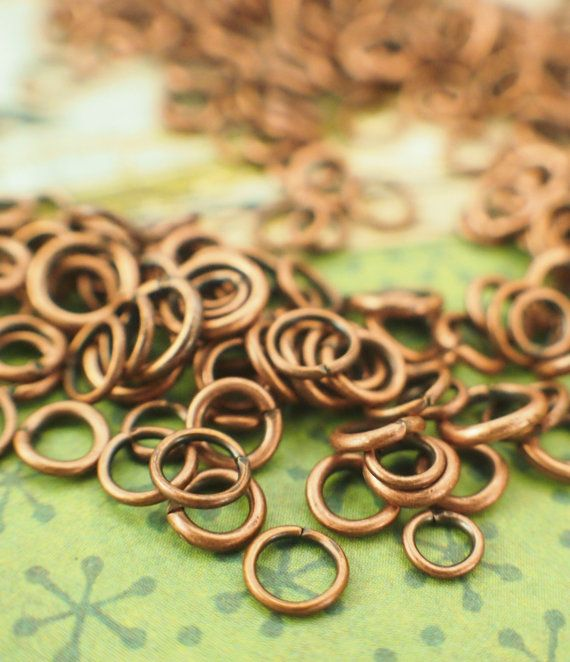Jewellery making Jewellery findings Jumprings Jewellery rings Antique bronze jumprings Jewellery jumprings