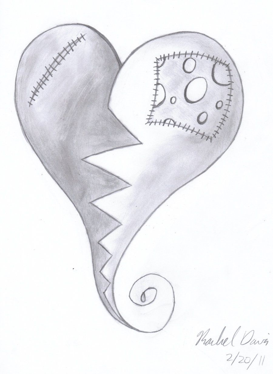 Emo Heart Drawings Emo Heart By Flygon017 Ideas For