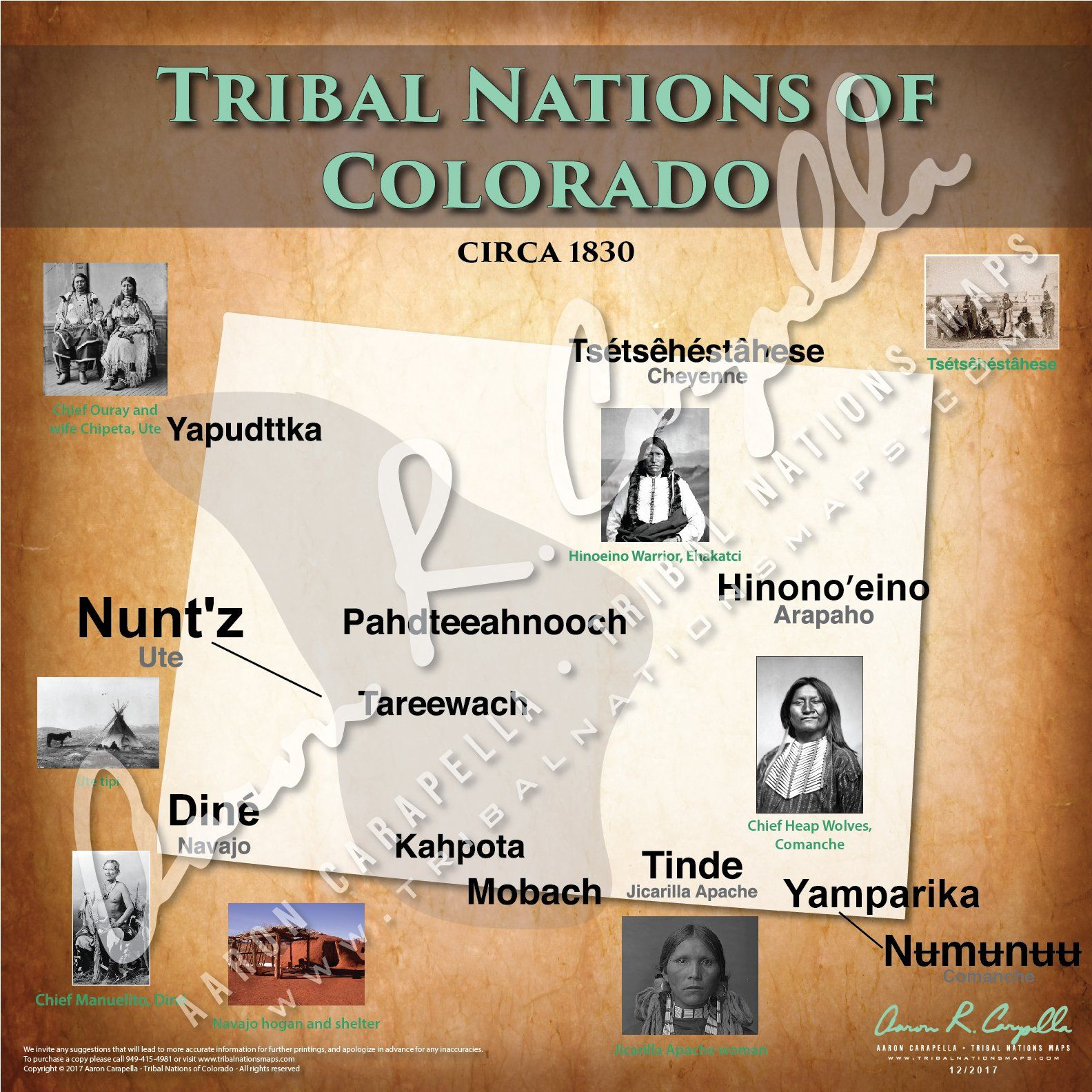 Tribal Nations Of Colorado Map Native American Map American Indian History Native American Heritage