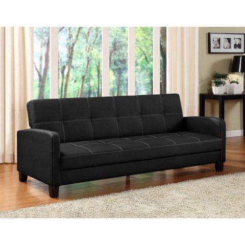 Delaney Black Sofa Bed Convertible Walmart Com 209 Futon