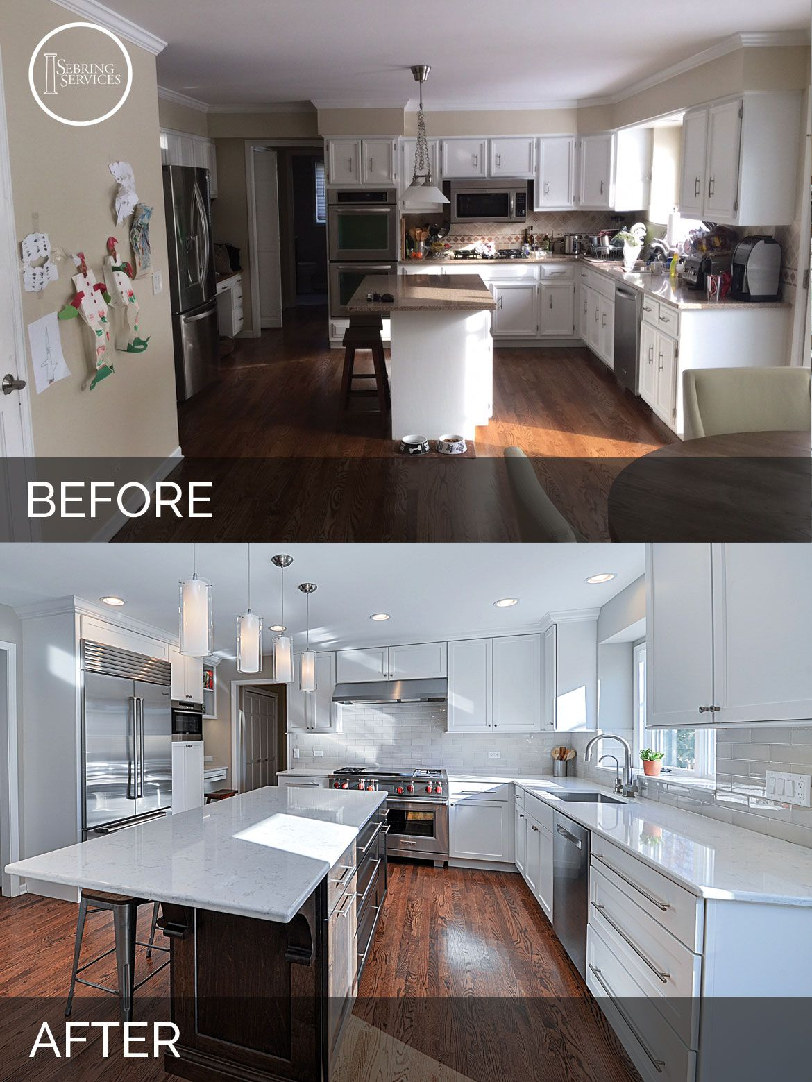 Derek   Christine s Kitchen Before   After Pictures   Remodeling     Before After Kitchen Remodeling   Sebring Services