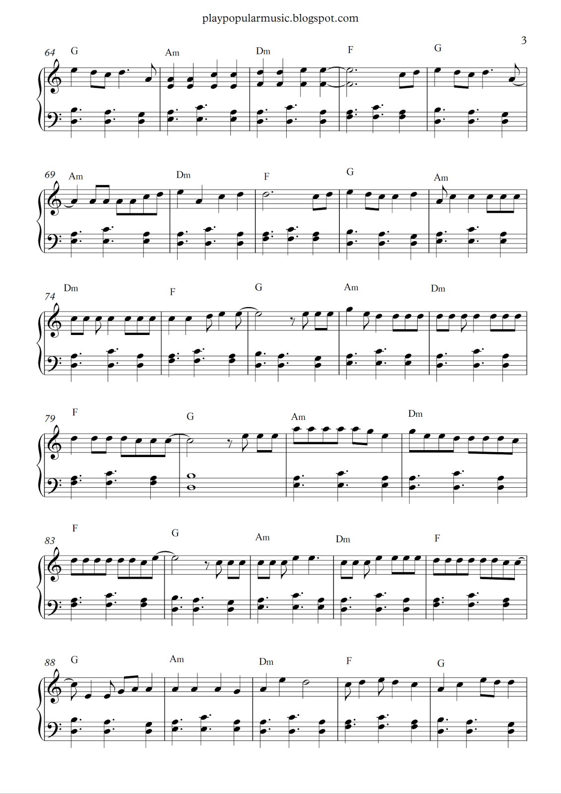 Free Piano Sheet Music Shape Of You Ed Sheeran Pdf Your Love Was Handmade For Somebody Like Me The Club I Piano Sheet Music Free Piano Sheet Music Piano Music