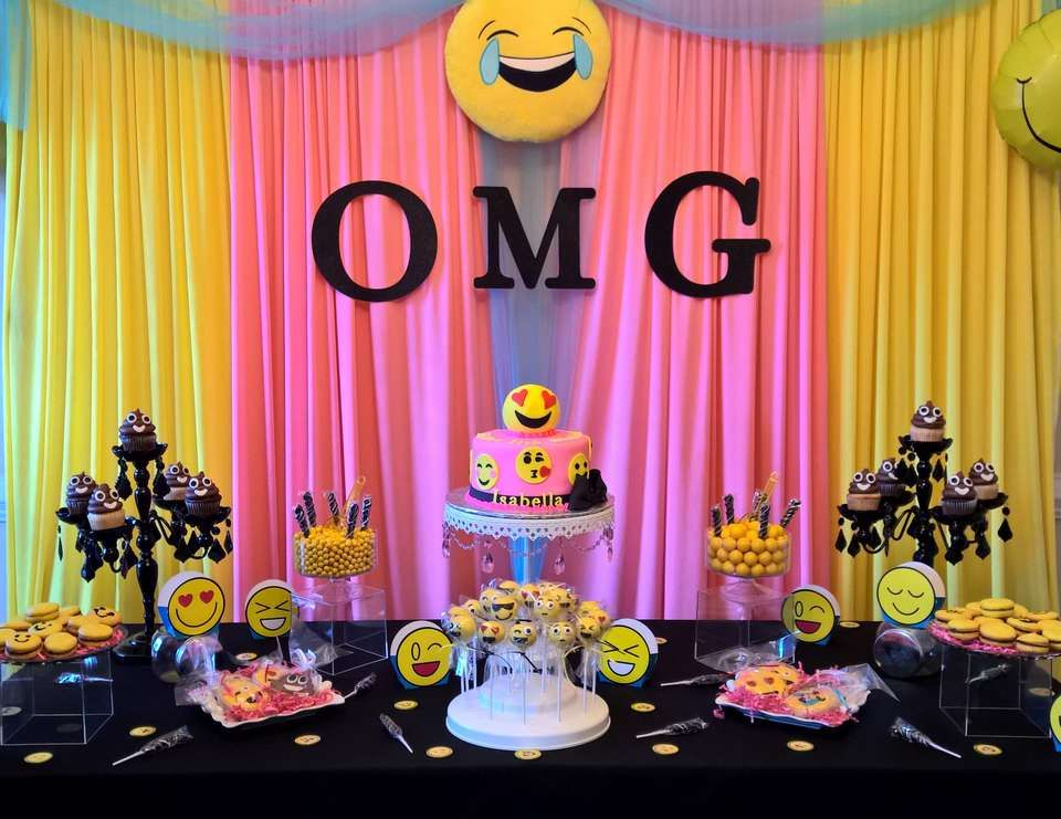 Emoji Birthday Pre Teen Bash