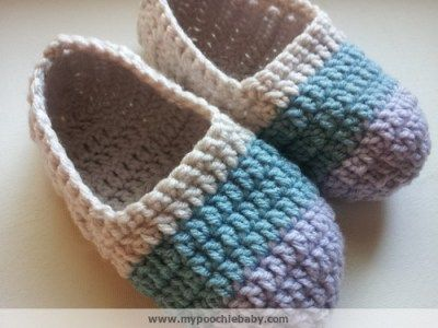 Free crochet pattern: House shoes. Ballet style slippers. | crochet ...