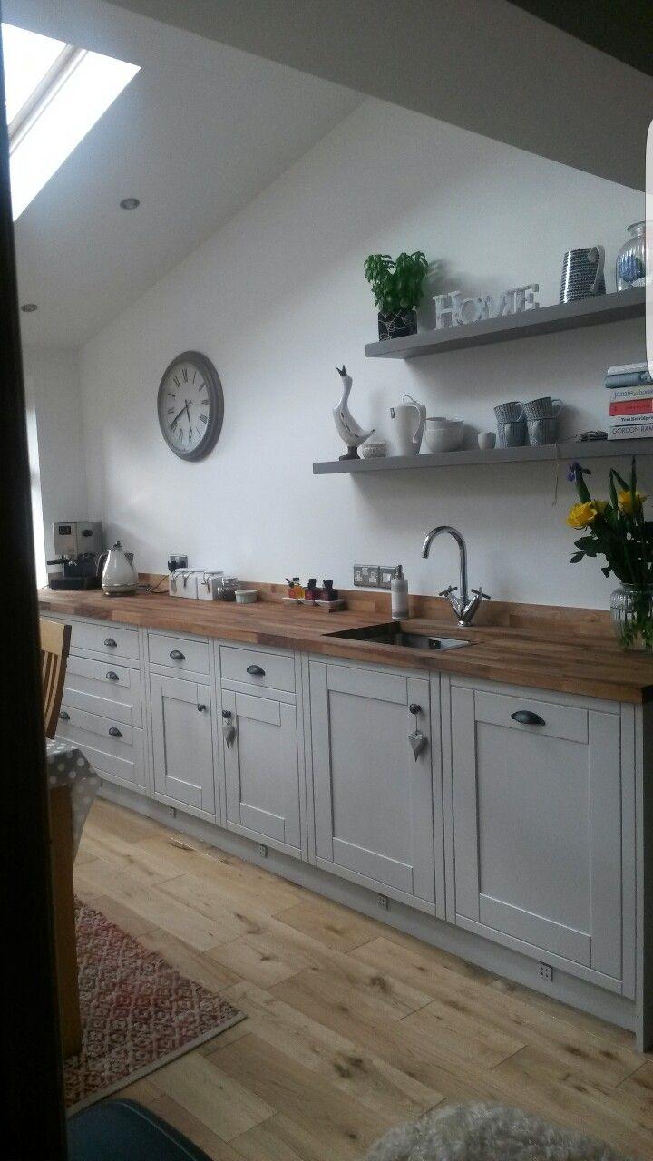Best Kitchen Cupboards In Cornforth White Farrow Ball White 640 x 480