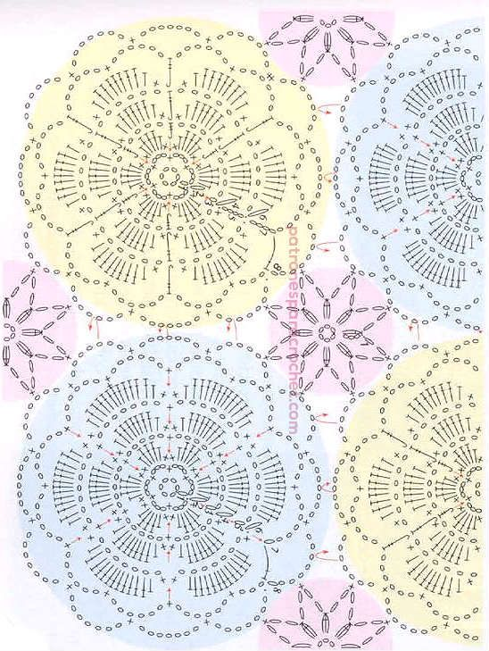 Patrones de túnica floral calada para tejer a crochet ~ Patrones ...