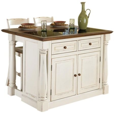 I Pinned This 3 Piece Monarch Kitchen Island Set From The Kitchen Dining Furnit Kitchen Island With Granite Top Portable Kitchen Island